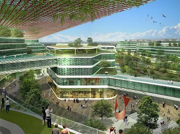 eko-kent,Tianjin Eco-city, Çin-Singapur