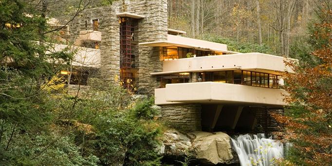 Frank Lloyd Wright-Frank Lloyd Wright eserleri- Frank Lloyd Wright kent modeli- mimar-şelale evi-fallingwater